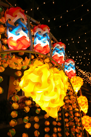 nightscape: lamp on nightscape in Thailand