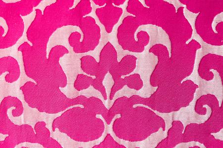 Close up pattern of Sofa fabric ,Sofa fabric texture Stock Photo