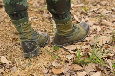 military boots: Military Boots Stock Photo