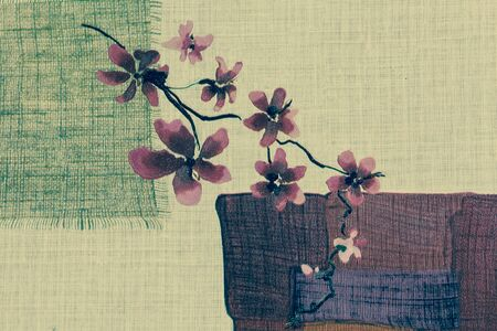 red orchid: Red orchid flowers painting public wallpaper