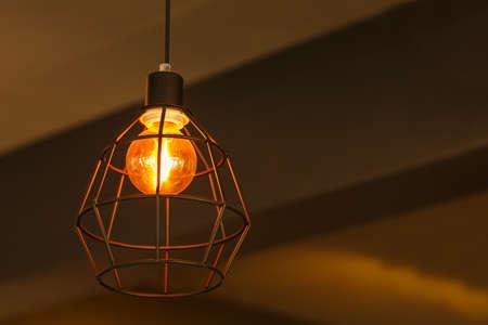 modern living: Old modern lamp in living room