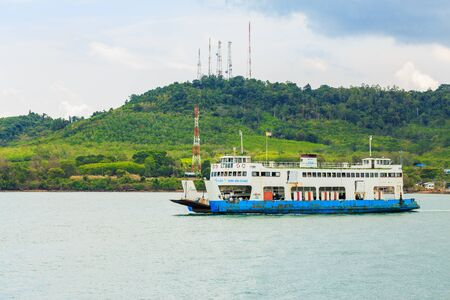 trat: TRAT , THAILAND- JULY 13, 2016 : Port ferry boat in Koh Chang Island, Trat, ,Thailand on July 13 , 2016. Koh chang Is the second largest island of Thailand. Editorial