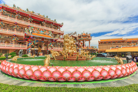 CHONBURI, THAILAND - JULY 16, 2016: Naja Chinese Shrine. Visitors go to this shrine for making merit by respecting Chinese God, especially the celestial named Naja. THAILAND on July 16, 2016