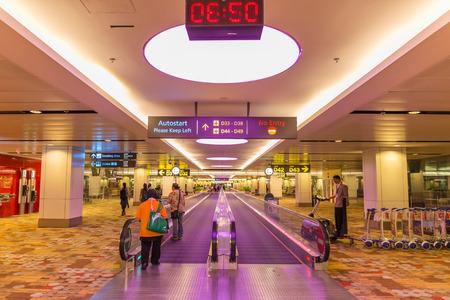 september 2: CHANGI, SINGAPORE – SEPTEMBER 2, 2016 : The Terminal 1 in  Changi Airport, Singapore on September 2, 2016. Editorial