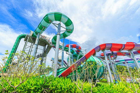 PATTAYA, THAILAND - SEPTEMBER 30, 2016: RamaYana Water Park, New recreation in Pattaya , Thailand. The Park is built to the highest international standards and using only premium equipment. Editorial