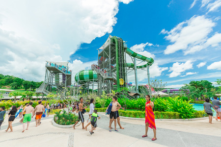 PATTAYA, THAILAND - OCTOBER 6, 2016: RamaYana Water Park, New recreation in Pattaya , Thailand. The Park is built to the highest international standards and using only premium equipment.