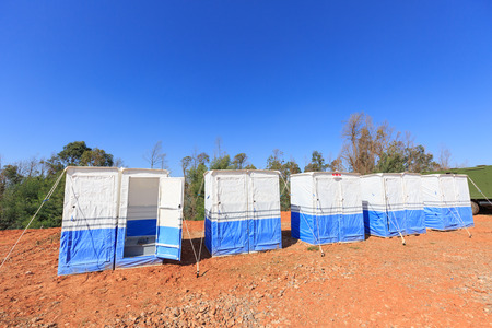 Toilets and Bathrooms  in Disaster Victims Camp