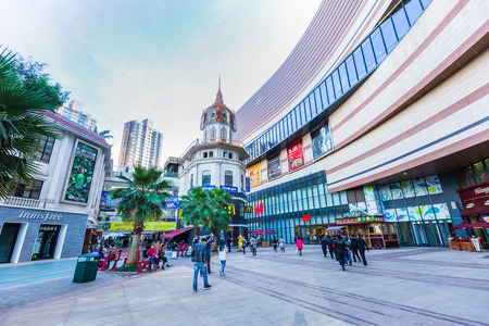 population growth: KUNMING , CHINA - DECEMBER 2,2016 : view of Kunming city in China. Kunming is a fast growing metropolis with an annual population growth rate of 50,000 people in year 2016 Editorial