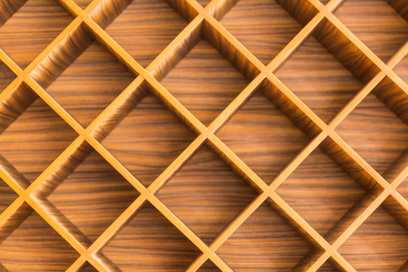 punctuate: close up of wood partition screen