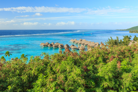 The Beautiful sea and resort in Moorea Island at Tahiti PAPEETE, FRENCH POLYNESIA