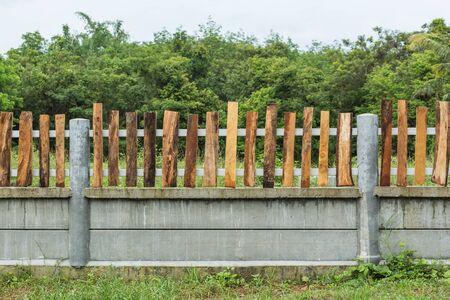 Background of picket fence Stock Photo