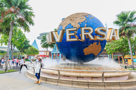 SENTOSA - NOVEMBER 23,2017: Universal Studios is a theme park located within Resorts World Sentosa on Sentosa Island.