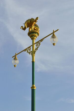 erawan Street light  with blue sky photo