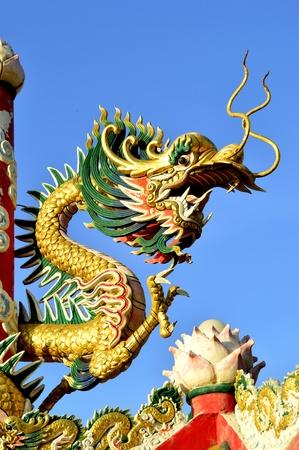 chaina dragon statue Stock Photo
