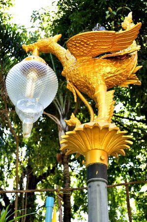 Golden swan lamp