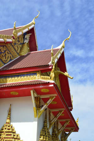 roof thai tample style in thailand
