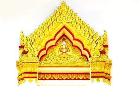 art Thai style in temple  photo