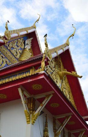 thai tample under sky