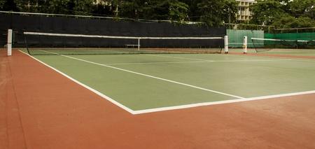 Outdoor Green Tennis court