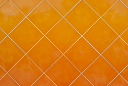 orange Tile glossy mosaic Earthenware material background photo