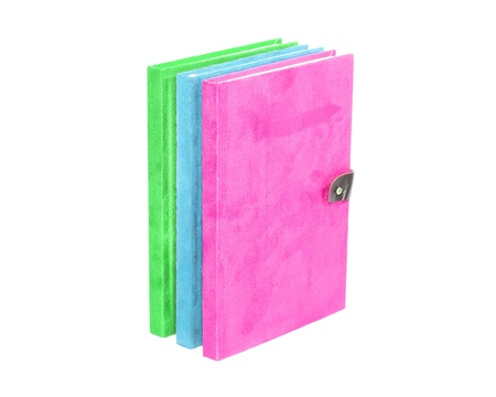 colorful with Secondary colors  on the front cover book isolate on white background clipping path photo