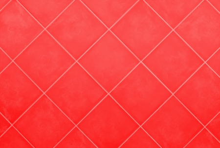 red Tile glossy mosaic Earthenware material background photo