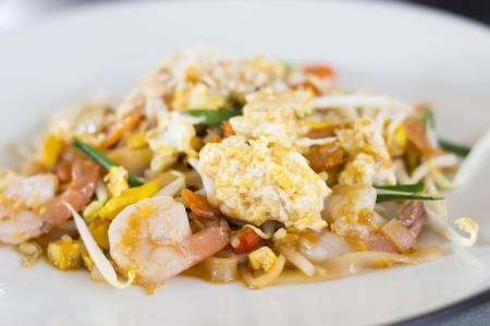 Pad Thai stir-fried rice noodles,Stir fry noodles with shrimp