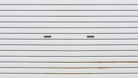white Slide door ,roller shutter texture and rust