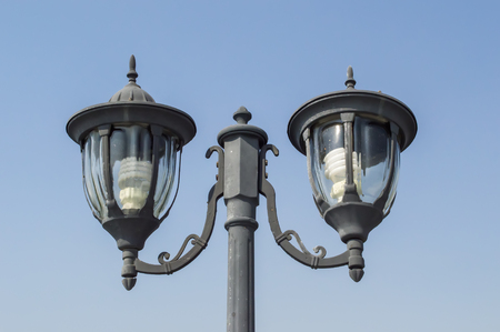 lamp post with blue sky Stock Photo - 22435779