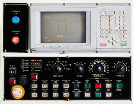 control panel of cnc machinning center  Stock Photo