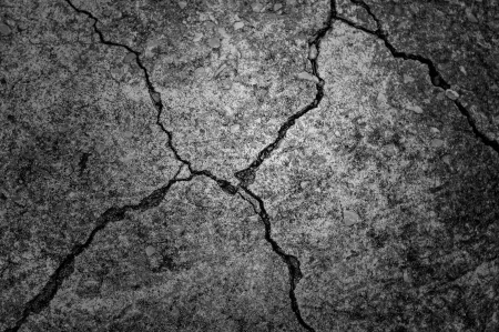 black and white cement cracked background Stock Photo