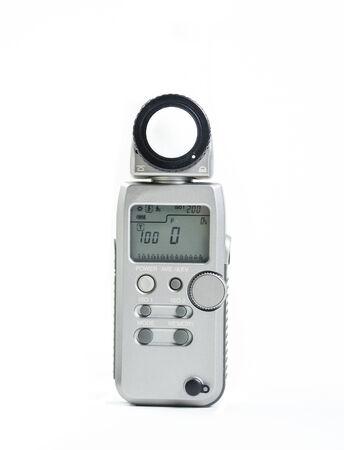 light meter on white background Stock Photo