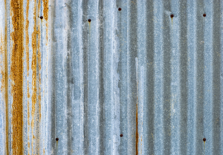 corrugated zinc metal sheet and rust background