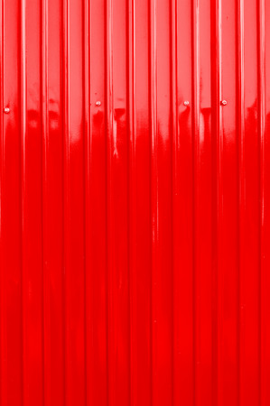 red color corrugated metal sheet as background