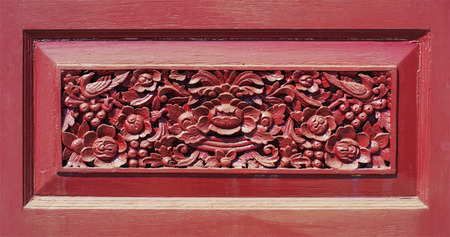 tooled: wood carving flowers thai art