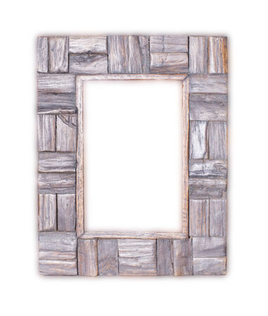 wood frame white background photo