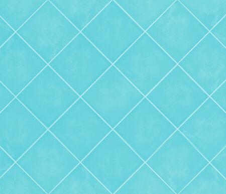 Banque Du0027images   Bleu Cyan Mosaïque Brillante Matériau Faïence Douce Dans  La Salle De Bain