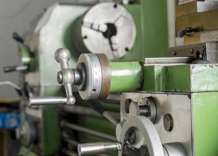 close-up green lathe machine  photo
