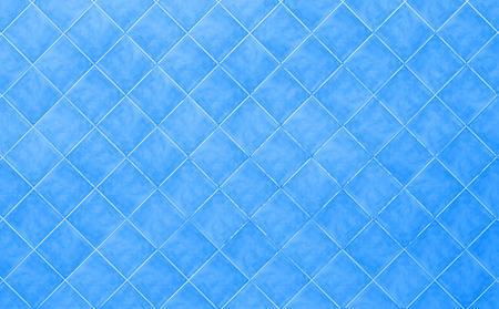 blue Tile glossy mosaic Earthenware material background Stock Photo