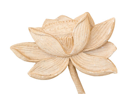 Carving Clay of lotus flower isolate white background Stock Photo