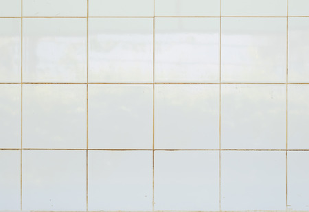 white Tile glossy mosaic Earthenware material in the bathroom