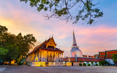 Wat Phra Mahathat Woramahawihan Nakhon Sri Thammarat Thailand Stock Photo
