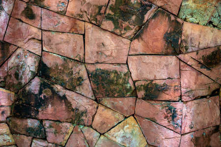 Broken stone background Brown Mixed surface 版權商用圖片