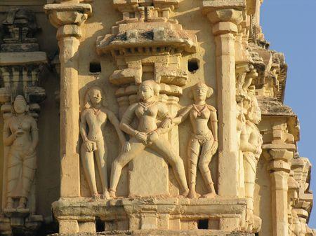 karma: Karma Sutra temple carvings Stock Photo