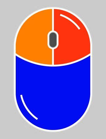 Mouse icon. Good for computers or laptops Illusztráció