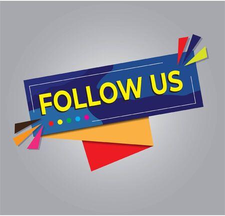 Follow us template. Great vector for social media, web, applications etc. Vettoriali