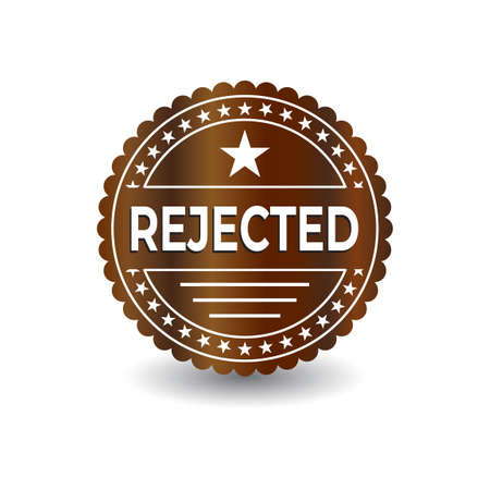 Rejected template. Great vector for computers, laptops, social media, web, online stores, product marketing, sales promotions, discount coupons, fashion etc.