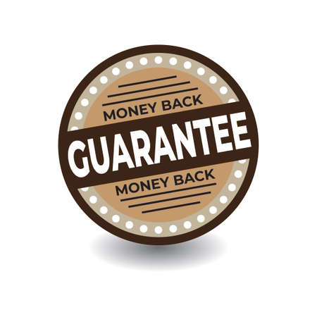 Guarantee template. Great vector for computers, laptops, social media, web, online stores, product marketing, sales promotions, discount coupons, fashion etc.