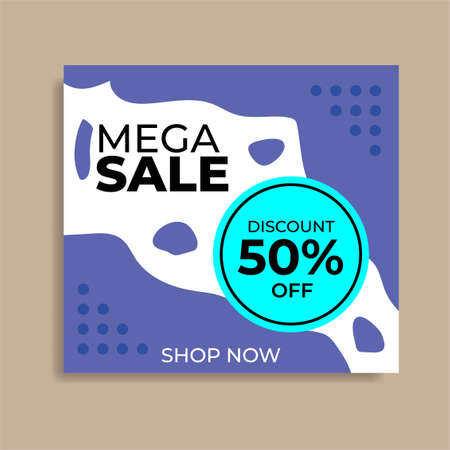 Social media template. Great vector for online stores, discount coupons, sales promotions, product launches, web, product marketing, fashion etc.