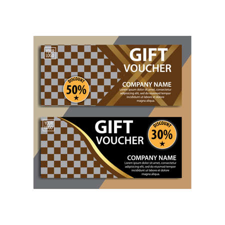 Gift Voucher discount template. Great vector for social media, online stores, discount coupons, web etc. Ilustracja